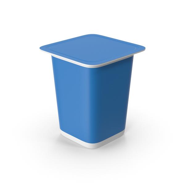 Yogurt Cup Blue PNG & PSD Images