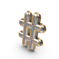 Bling Diamonds Symbol Hash Tag PNG & PSD Images