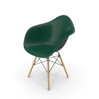 Eames Modern Armchair Dark Green PNG & PSD Images