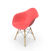 Eames Modern Armchair Pink PNG & PSD Images
