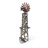 Old Farm Windmill PNG & PSD Images