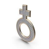 Bling Diamonds Symbol Female PNG & PSD Images