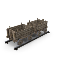 Old Mine Cart PNG & PSD Images