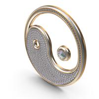 Bling diamonds titles symbol Yin Yang PNG & PSD Images