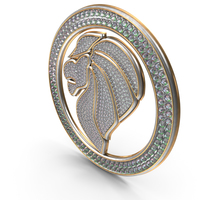 Bling Diamonds Symbol Lion PNG & PSD Images