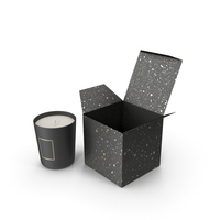Black Candle with Black Box PNG & PSD Images
