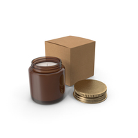 Candle Amber Jar with Craft Box PNG & PSD Images