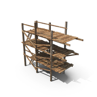 Old Wooden Scaffolding PNG & PSD Images