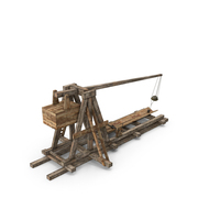 Old Wooden Trebuchet PNG & PSD Images