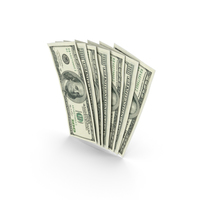 Handfull of 100 Dollar Bills PNG & PSD Images