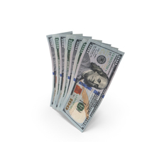 Handfull of new 100 Dollar Bills PNG & PSD Images