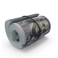 New 100 Dollar Roll PNG & PSD Images