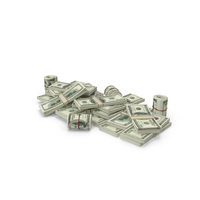 Pile of Dollar Stacks PNG & PSD Images