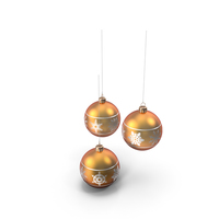 Christmas Tree Globes PNG & PSD Images