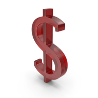 Dollars Sign 2 Glass Red PNG & PSD Images