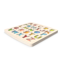 Wooden ABC Plate PNG & PSD Images