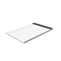 White Legal Pad PNG & PSD Images