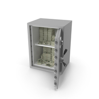Large Safe with Dollar Stacks PNG & PSD Images