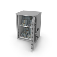 Large Safe with New Dollar Stacks PNG & PSD Images