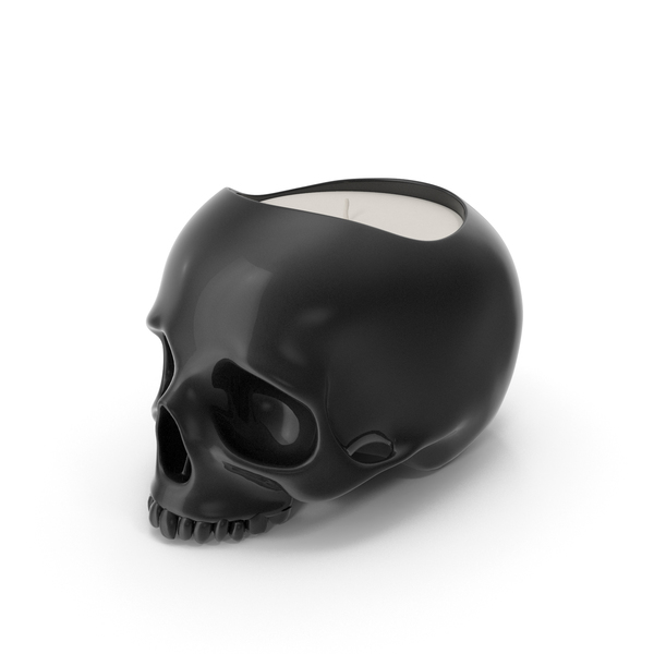 Black Skull Head Candle PNG & PSD Images