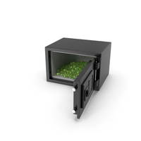 Small Safe with Emerald Gems PNG & PSD Images
