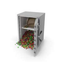 Large Safe with Mixed Gems PNG & PSD Images