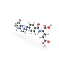 Vitamin B9 (Folic Acid) Molecule PNG & PSD Images