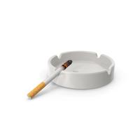 Porcelain Ashtray with Burning Cigarette PNG & PSD Images