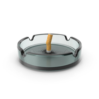 Put out cigarette in Glass Ashtray PNG & PSD Images