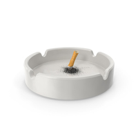 Put out cigarette in porcelain ashtray PNG & PSD Images