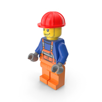 Lego Construction Worker PNG & PSD Images
