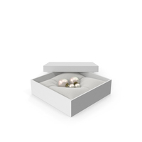 Pearl Earrings in a Gift White Box PNG & PSD Images