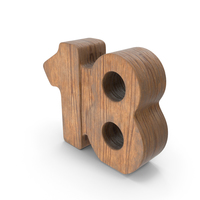 18 Wooden Number PNG & PSD Images