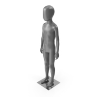 Child Mannequin Neutral Pose PNG & PSD Images