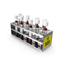 Coronavirus Test Tube Tray PNG & PSD Images