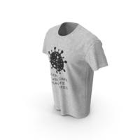 Mens Round Neck T-shirt Coronavirus Message PNG & PSD Images