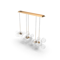 Giopato & Coombes Chandelier BTC24Z-PE1-BZBC PNG & PSD Images