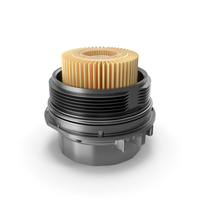 Oil Filter Housing with Filtering Element PNG & PSD Images