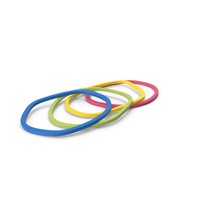 Multi Color Rubber Elastic Bands PNG & PSD Images