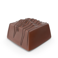 Square Chocolate Candy with Chocolate Line Pops PNG & PSD Images