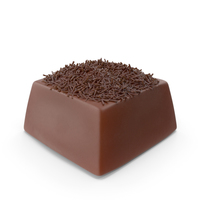 Square Chocolate Candy with Chocolate Pops PNG & PSD Images