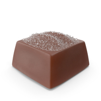 Square Chocolate Candy with Sugar PNG & PSD Images