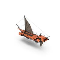 Flying Ship Orange PNG & PSD Images