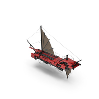Flying Ship Red PNG & PSD Images