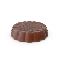 Disk Chocolate With Chocolate Line Pops PNG & PSD Images