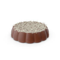 Disk Chocolate With Coconut PNG & PSD Images