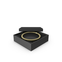 Gold Necklace in a Black Gift Box PNG & PSD Images