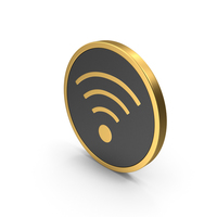 Gold Icon WiFi PNG & PSD Images