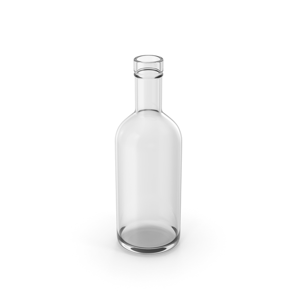 Dry Gin Bottle Empty PNG & PSD Images