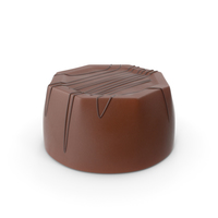 Cylinder Octagon Chocolate Candy With Chocolate Line PNG & PSD Images